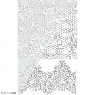 Plaque de texture Dentelles - 20 x 13,5 cm