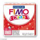 Pâte Fimo Kids Rouge pailleté 212 - 42 g - Photo n°1