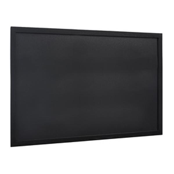 Ardoise murale WOODY, avec cadre en bois, noir 300x400mm - Photo n°1