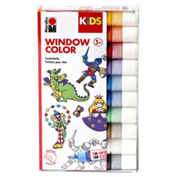 Marabu KiDS Window Color, kit de 10, couleurs assorties - Photo n°1