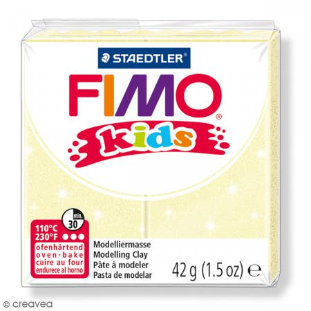 Fimo Kids Jaune perle 106 - 42 g - Photo n°1