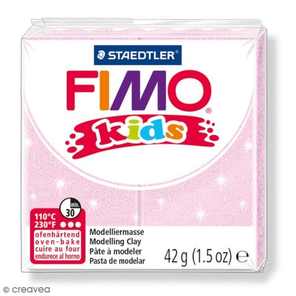 Pâte Fimo Kids Rose perle 206 - 42 g - Photo n°1