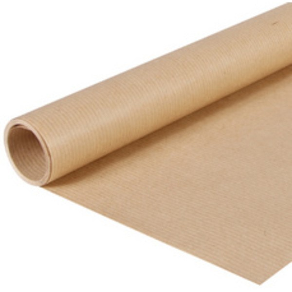 Papier d'emballage Kraft brun, 1.000 x 25 m - Photo n°1