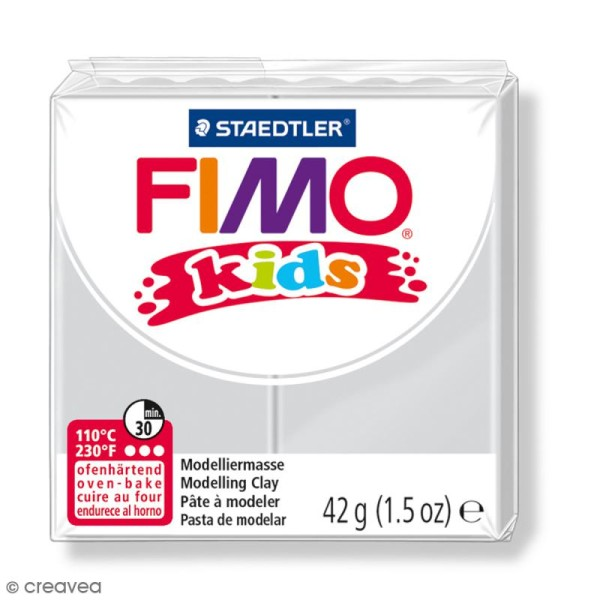 Pâte Fimo Kids Gris clair 80 - 42 g - Photo n°1