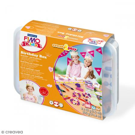 Coffret modelage Birthday Box pour enfant - Bijoux et couronnes - 30 pcs - Photo n°1