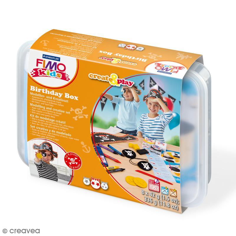 Coffret modelage Birthday Box pour enfant - Pirates - 27 pcs - Photo n°1