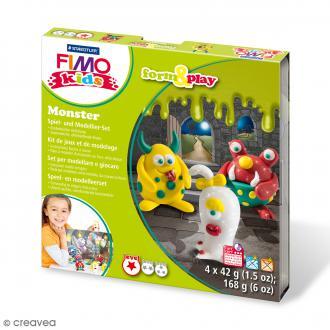 Kit pâte Fimo Kids - Monster - niveau Facile