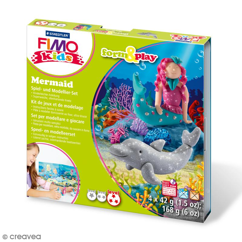 Kit Fimo Kids - Sirène - niveau Difficile - Photo n°1