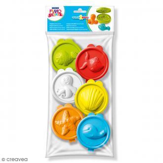 Emporte-pièces pâte Fimo Kids Animaux marins - 6 pcs