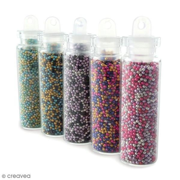Flacons Micro billes Multicolores - 5 pcs - Photo n°1