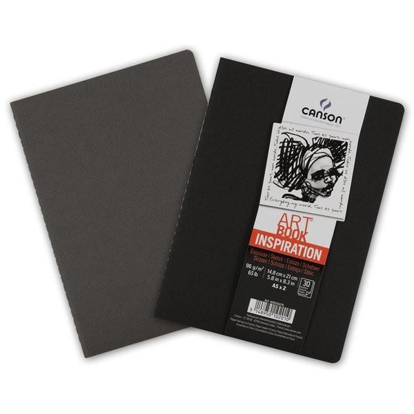 Carnet esquisse Art Book Inspiration, A5 noir/gris 2 pièces - Photo n°1