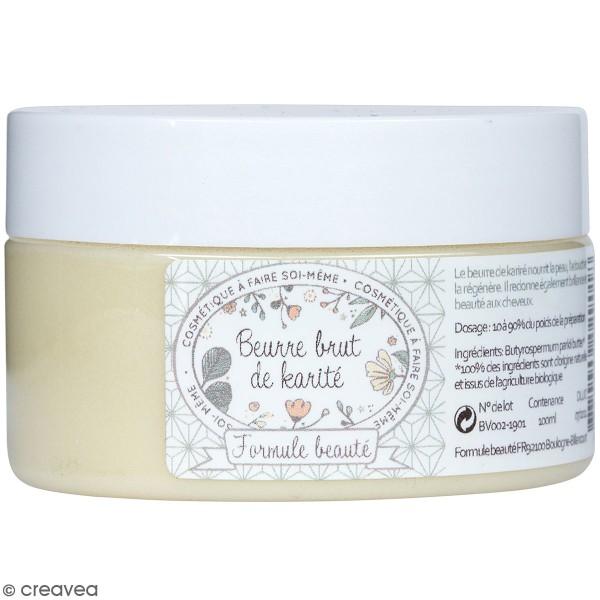 Beurre de karité brut - 100 g - Photo n°1