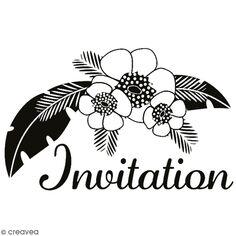 Tampon en bois Aladine - Invitation Tropicale - 6 x 4 cm