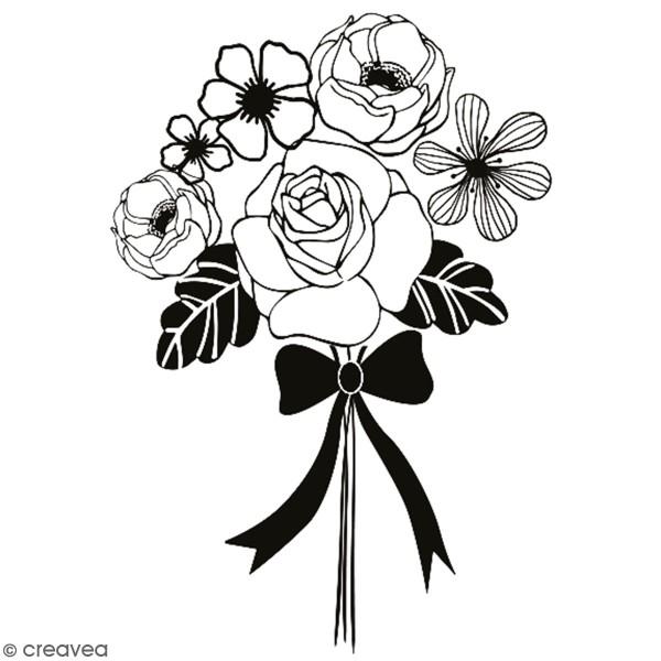 Tampon en bois Aladine - Bouquet - 4 x 6 cm - Photo n°1