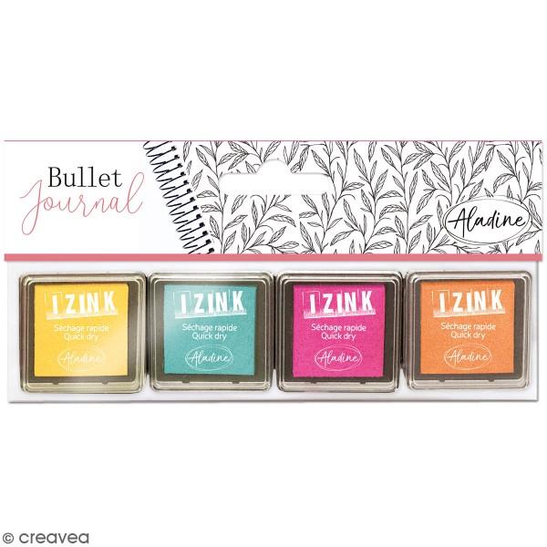 Lot de 4 mini encreurs à séchage rapide Bullet Journal - Pastel - Photo n°1