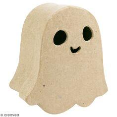 Boîte Fantôme rigolo en papier mâché - 13,5 x 15 cm