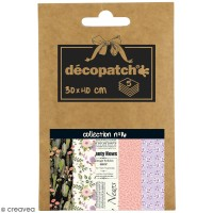 Papiers Décopatch Pocket - Collection n° 16 - 30 x 40 cm - 5 pcs