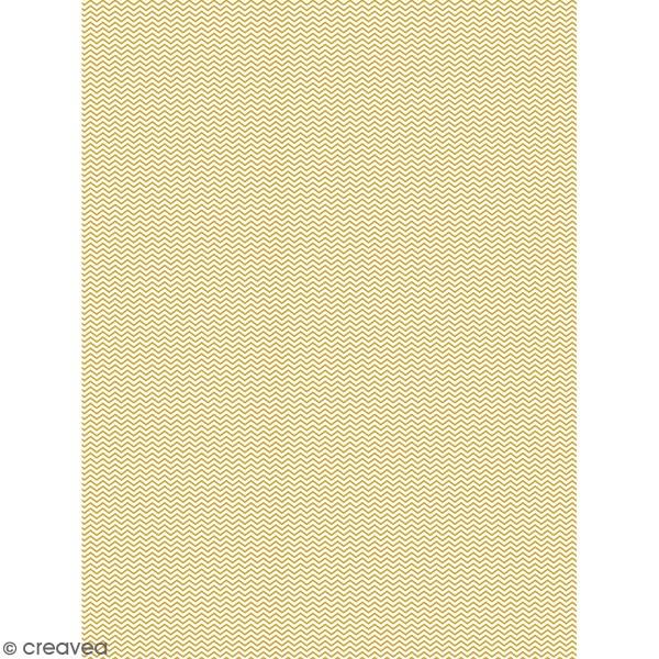 Décopatch effet foil - Chevrons 780 - 1 feuille - Photo n°1