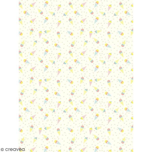 Décopatch effet foil - Glaces 785 - 1 feuille - Photo n°1
