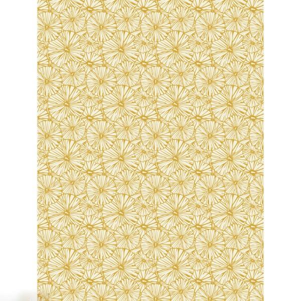 Décopatch effet foil - Fleurs graphiques 790 - 1 feuille - Photo n°1