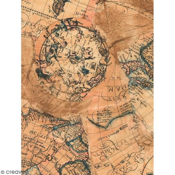 Décopatch motif Carte ancienne 805 - 1 feuille - Photo n°1