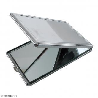 Miroir métallique DTM - Rectangulaire - Acier - 10 x 6 x 1 cm