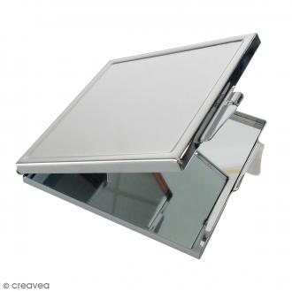 Miroir métallique DTM - Carré - Acier - 6 x 6,5 x 1 cm