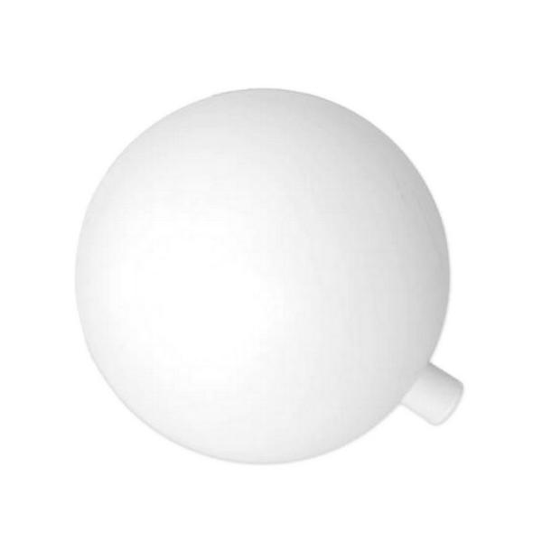 Boule en plastique blanc, Ø 15 cm, avec ouverture pour fixation 12mm - Photo n°1