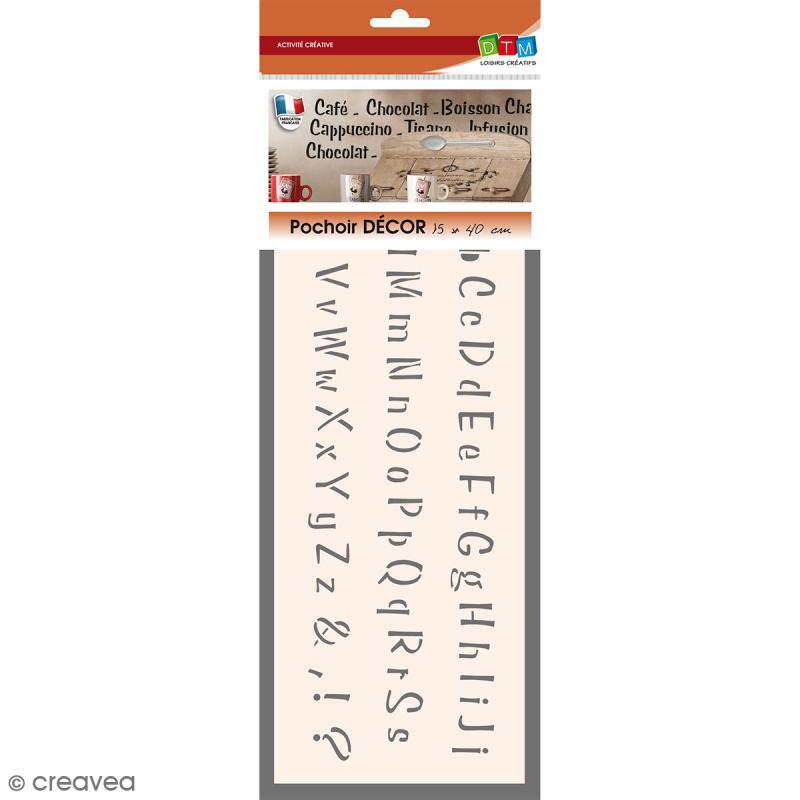 Pochoir d cor alphabet n 2 60 pcs pochoir mural for Acheter pochoir mural