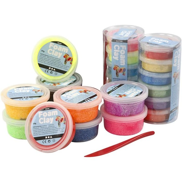 Foam Clay®, 22 boîtes, Couleurs assorties - Photo n°1