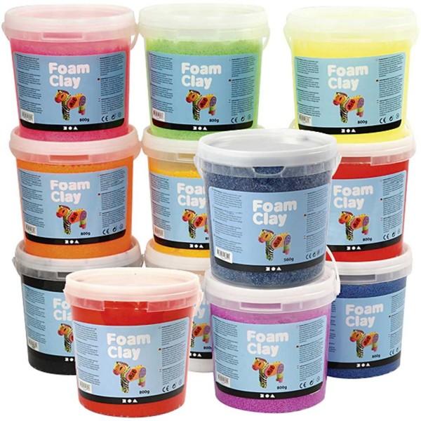 Foam Clay®, 12x560 gr, Couleurs assorties - Photo n°1
