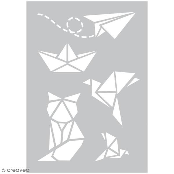 Pochoir spécial tissu - Origami - 5 pcs - Photo n°1