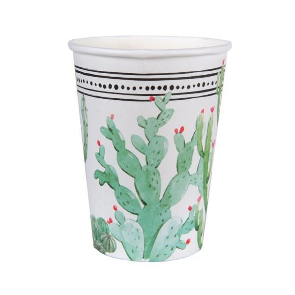 20 Gobelets en carton décor cactus - Photo n°1