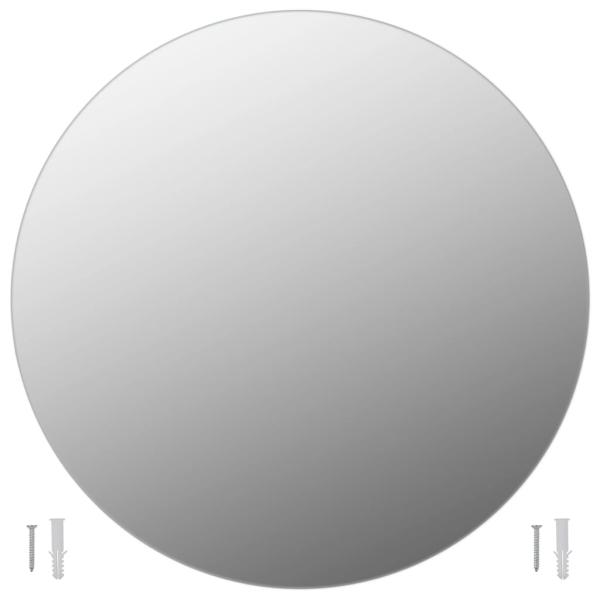 vidaxl miroir mural 60 cm rond verre miroir adh sif. Black Bedroom Furniture Sets. Home Design Ideas