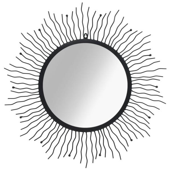 vidaxl miroir mural de jardin rayons de soleil 80 cm noir miroir adh sif creavea. Black Bedroom Furniture Sets. Home Design Ideas