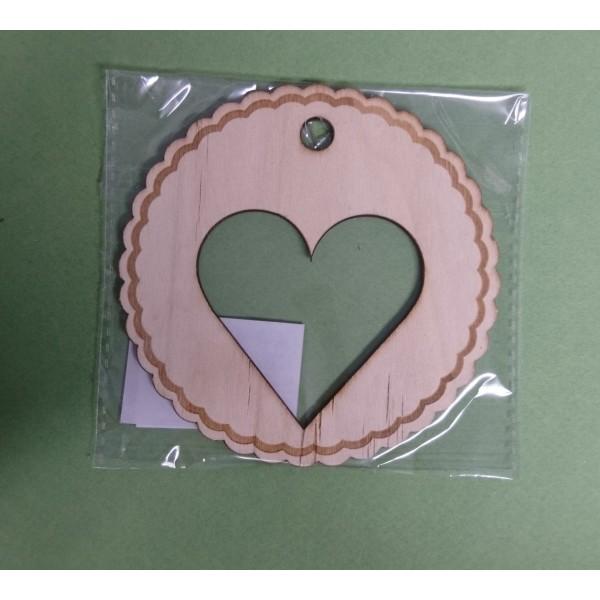Coeur en bois à décorer - Photo n°1