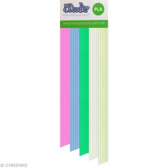 Recharge bâton plastique PLA Stylo 3D - Clearly Awesome - 25 pcs