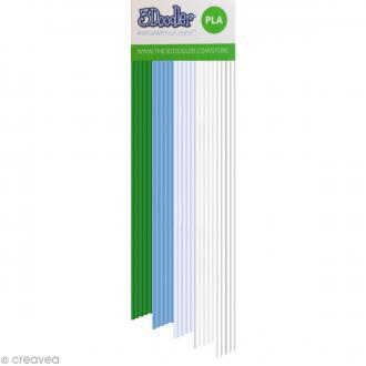 Recharge bâton plastique PLA Stylo 3D - Winter Wonderland - 25 pcs
