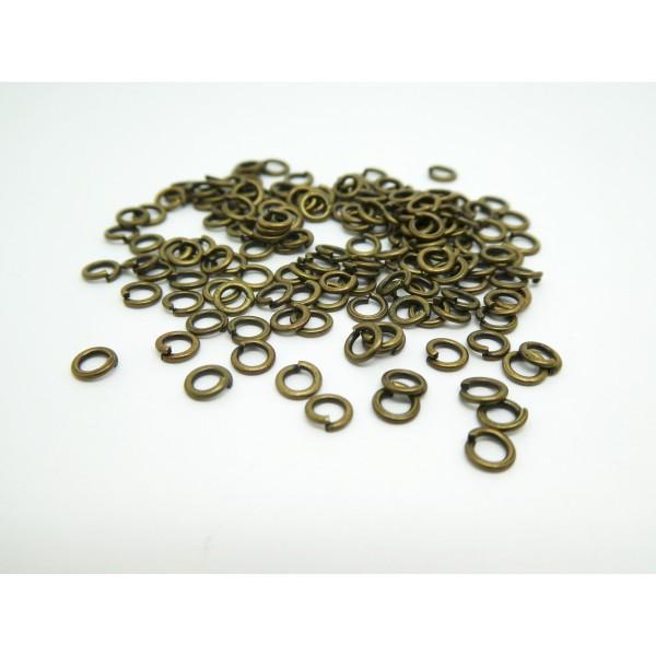 150 Anneaux ouverts 4mm bronze - Photo n°1