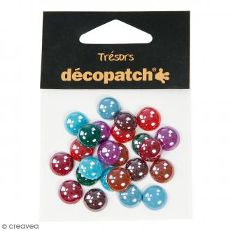 Cabochons ronds - Pearl flashy - 1 cm - 24 pcs