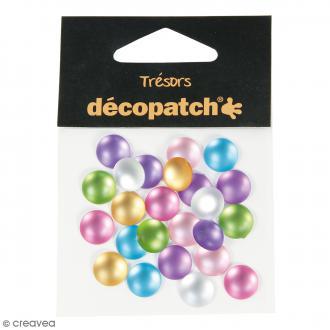 Cabochons ronds - Pearl pastel - 1 cm - 24 pcs