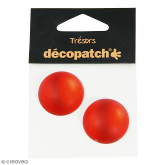 Cabochons ronds - Rouge - 3 cm - 2 pcs