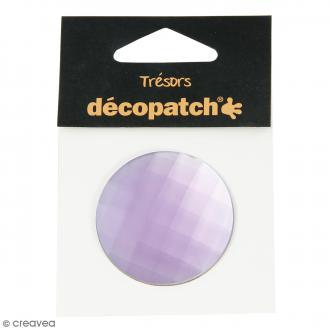 Cabochon Rond - Violet parme - 4,5 cm