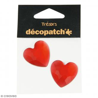 Cabochons Coeurs - Rouge - 3 cm - 2 pcs