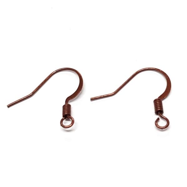 crochet boucle d'oreille cuivre