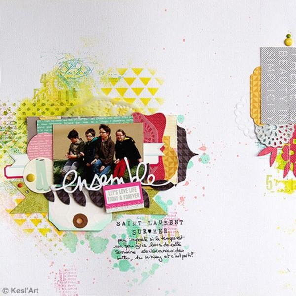 Pochoir Posh - Papillons - 11,5 x 19,5 cm - 1 planche - Photo n°2