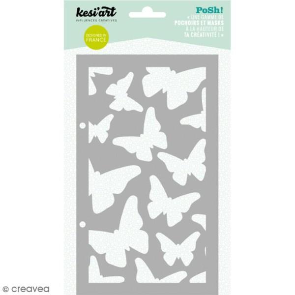 Pochoir Posh - Papillons - 11,5 x 19,5 cm - 1 planche - Photo n°1