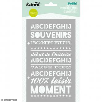 Pochoir Posh - Moment - 11,5 x 19,5 cm - 1 planche