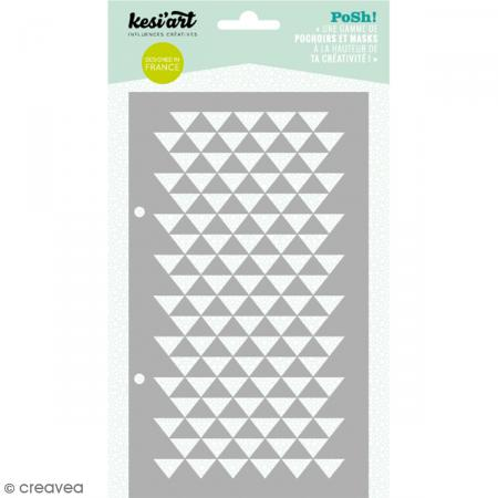 Pochoir Posh - Triangles - 11,5 x 19,5 cm - 1 planche - Photo n°1