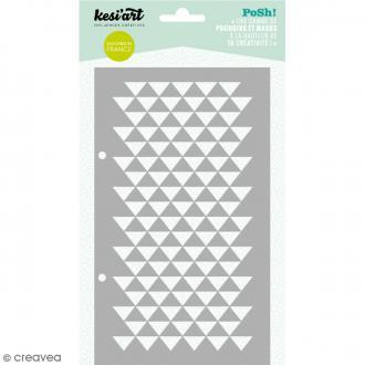 Pochoir Posh - Triangles - 11,5 x 19,5 cm - 1 planche